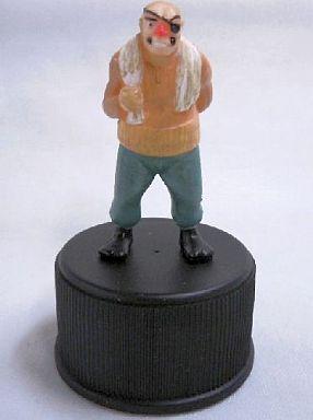 【中古】ペットボトルキャップ 丹下 段平 「あしたのジョー」ジョー&飛雄馬 ボトビッツ ボトルキャップ