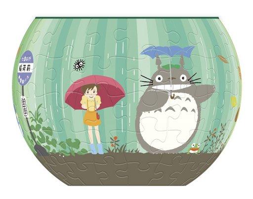 【中古】パズル トトロの廻る世界 「となりのトトロ」 アートボウルジグソー 84ピース [AT8-02]