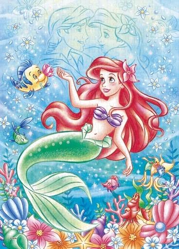 エポック社 新品 パズル Ocean Romance -Ariel-(オーシャンロマンス-アリエル-) 「リトル・マーメイド」 パズルデコレーション ジグソーパズル 500ピース [74-009]