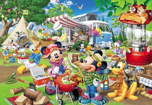 テンヨー 新品 パズル みんなでオートキャンプ! 「ディズニーキャラクター」 ジグソーパズル 300ピース [D-300-013]