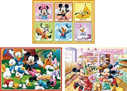 エポック 新品 パズル たのしいまいにち 「ディズニー ミッキー&フレンズ」 はじめてのジグソーパズル ステップ1 16/25/35ピース [61-006]