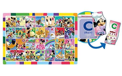 テンヨー 新品 パズル ミッキーとABCであそぼう! 「ディズニー」 チャイルドパズル 52ピース [DC52-155]