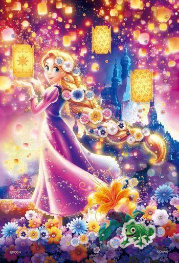 エポック社 新品 パズル Rapunzel -Lantern Night -ラプンツェル -ランタンナイト- 「ディズニープリンセス」 ポップアップパズルデコレーション 300ピース [73-302]