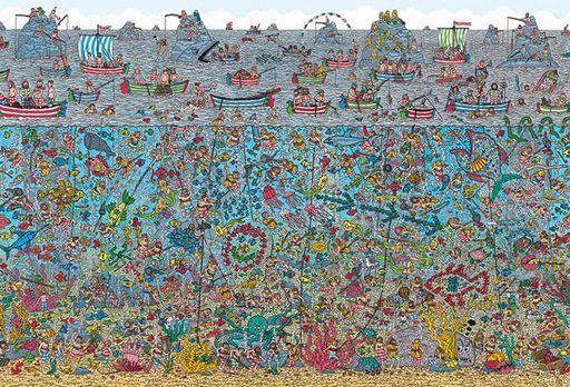 ビバリー 新品 パズル Where's Wally? 深海のダイバー 「ウォーリーを探せ!」 ジグソーパズル 2000スモールピース [S92-504]