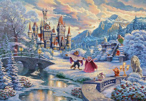 テンヨー 新品 パズル Beauty and the Beast's Winter Enchantment 「美女と野獣」 ジグソーパズル 1000ピース [D1000-072]