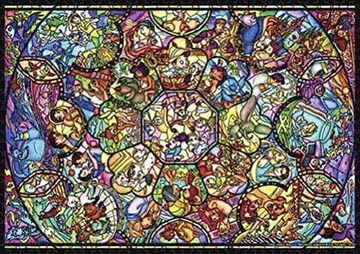 テンヨー 新品 パズル オールスター ステンドグラス 「ディズニー」 世界最小ジグソーパズル 1000ピース [DW1000-008]