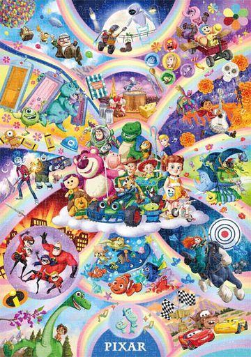テンヨー 新品 パズル Popping out! ピクサー キャラクター 大集合 「ディズニー/ピクサー」 ジグソーパズル 1000ピース [D1000-077]