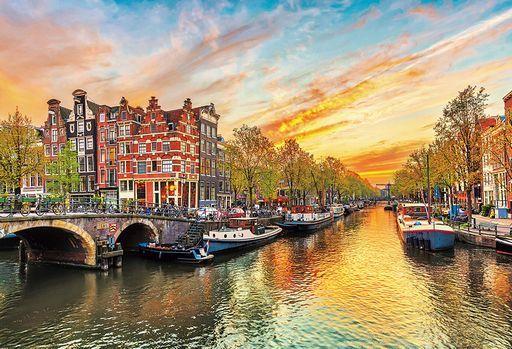 ビバリー 予約 パズル 夕暮れのアムステルダム 「海外風景」 ジグソーパズル 1000ピース [51-282]