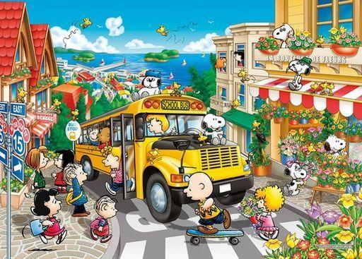 エポック社 予約 パズル ハッピースクールバス 「PEANUTS-ピーナッツ-」 世界最小ジグソーパズル 2000スーパースモールピース [54-220S]