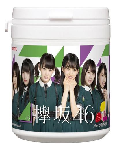 ロッテ 新品 ガム・キャンディ 【BOX】欅坂46キュートデザインボトル (6個セット)