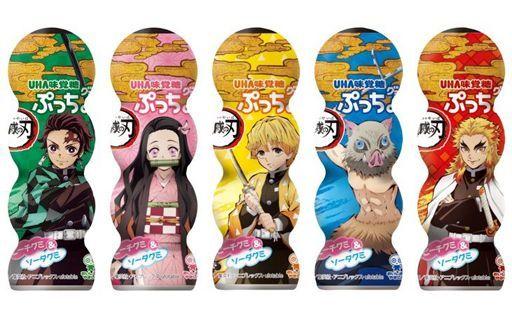 UHA味覚糖 予約 ガム・キャンディ 【BOX】ぷっちょグミ ピーチ&ソーダ 「鬼滅の刃」 (10個セット)