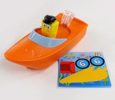 【中古】ハッピーセット スピードボート 「スポンジ・ボブ」 ハッピーセット
