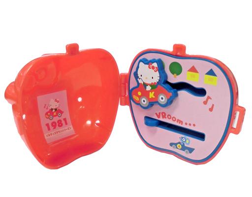 【中古】ハッピーセット キティタウンシリーズ(可動キティ/1981年) リンゴ型ケース 「ハローキティ」 ハッピーセット