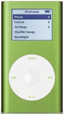 【中古】ポータブルオーディオ iPod mini M9807J/A グリーン (6GB)