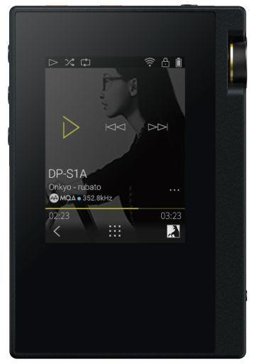 【中古】ポータブルオーディオ ONKYO ハイレゾポータブルオーディオプレーヤー rubato 16GB (ブラック) [DP-S1A(B)]