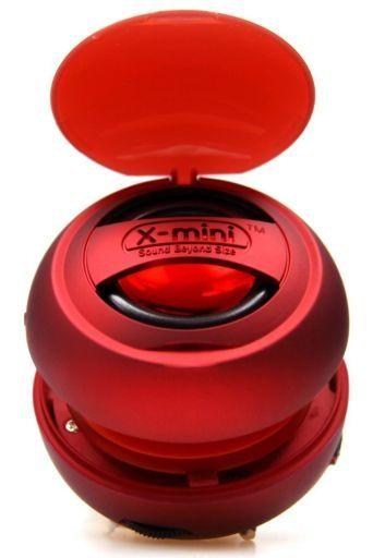 【新品】スピーカー エックスミニ X-mini v1.1 カプセル ポータブル 小型 スピーカー レッド[XAM8-R]