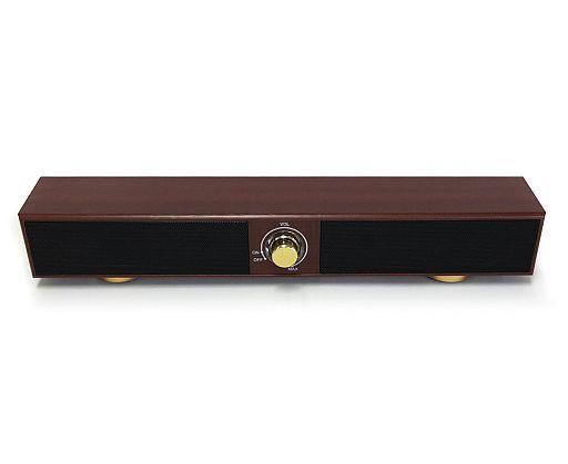 【中古】スピーカー チャッピー 木目調 USBステレオロングスピーカー (ブラウン)