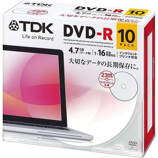 TDK Data DVD-R 4.7GB 10Pack [DR47PWC10UE]