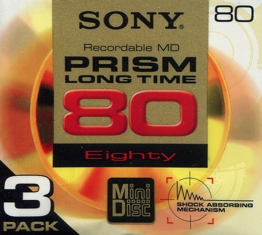 Sony recording minidisc PRISM 80 minutes 3 sheets pack [3MDW-80JH]