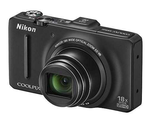 【中古】カメラ デジタルカメラ COOLPIX S9300 1602万画素 (ノーブルブラック) [S9300BK]
