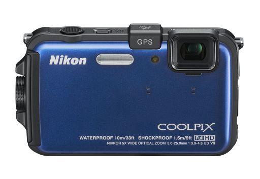 【中古】カメラ デジタルカメラ COOLPIX AW100 1602万画素 (オーシャンブルー) [AW100BL]