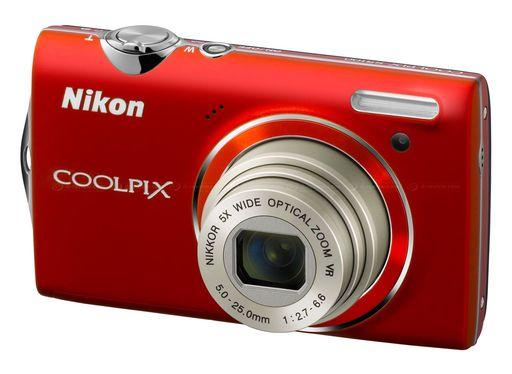 【中古】カメラ デジタルカメラ COOLPIX S5100 1220万画素 (クリアレッド) [S5100(RD)] (状態:中箱・CD-ROM欠品)