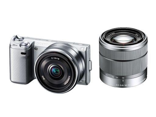 【中古】カメラ デジタル一眼カメラ α NEX-5ND ダブルレンズキット 1610万画素 (シルバー) [NEX-5ND(S)]