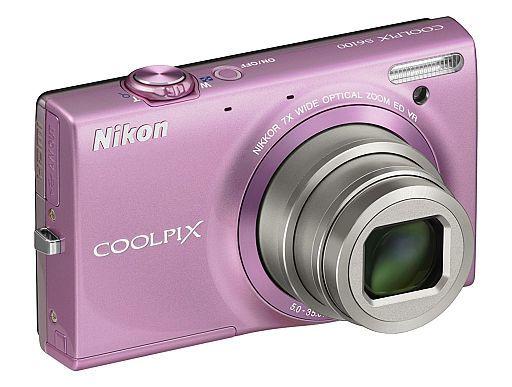 【中古】カメラ デジタルカメラ COOLPIX S6100 1600万画素 (グロスピンク) [S6100PK]