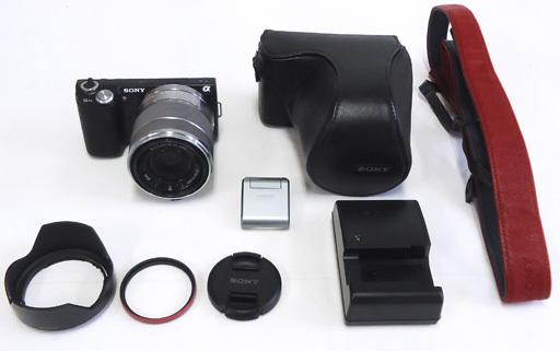 【中古】カメラ デジタル一眼カメラ α NEX-5ND ズームレンズキット 1610万画素 (ブラック) [NEX-5NK(B)] (状態:各付属品欠品/別売アクセサリ付属※詳細は商品説明を御覧下さい)
