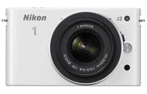 レンズ交換式アドバンストカメラ Nikon 1 J2 ダブルズームキット 1015万画素 (ホワイト) [N1J2WZWH]