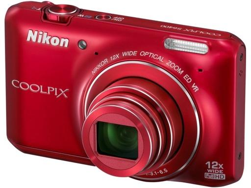 【中古】カメラ Nikon デジタルカメラ COOLPIX S6400 1602万画素 (グロッシーレッド) [S6400RD] (状態;各付属品欠品※詳細は商品説明を御覧下さい)