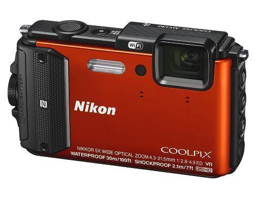 【中古】カメラ デジタルカメラ COOLPIX AW130 1605万画素 (オレンジ) [AW130OR] (状態:箱・説明書・ブラシ欠品)