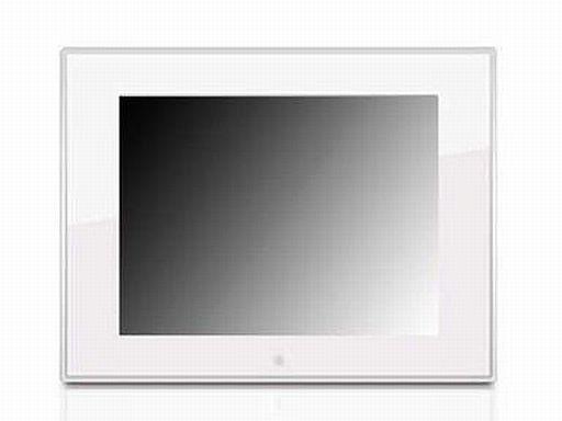 【中古】デジタルフォトフレーム 7インチ液晶デジタル写真たて(ホワイト)[DMF070W43] (状態:箱・USBケーブル欠品/本体状態難)