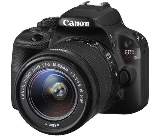 【中古】カメラ Canon デジタル一眼レフカメラ EOS Kiss X7 レンズキット (ブラック) [8574B002] (状態:インターフェースケーブル欠品)