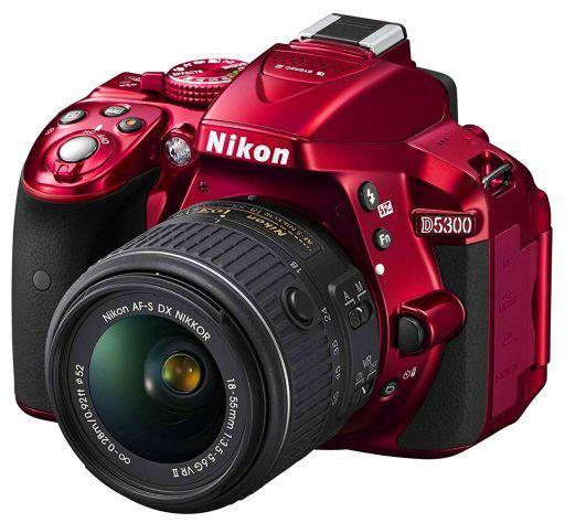 【中古】カメラ Nikon デジタル一眼レフカメラ D5300 18-55 VR IIレンズキット 2416万画素 (レッド) [D5300LK18-55VR2-RD] (状態:接眼目当て欠品/本体状態難)