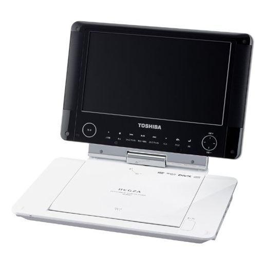 【中古】DVDプレイヤー/レコーダー 東芝 9インチ ポータブルDVDプレーヤー REGZA (ホワイト) [SD-P96DT] (状態:AVケーブル欠品)