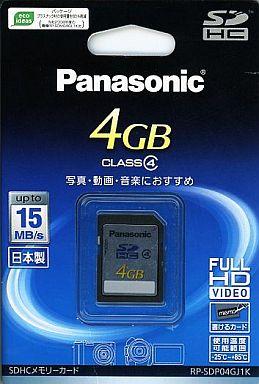 【中古】家電サプライ SDHCメモリーカード 4GB [RP-SDP04GJ1K]