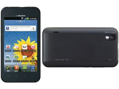 【中古】携帯電話 スマートフォン Optimus bright ブラック[L-07C]