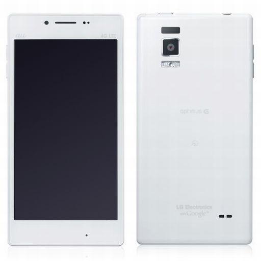 【中古】携帯電話 スマートフォン Optimus G LGL21 (ホワイト) [LGL21SWA]