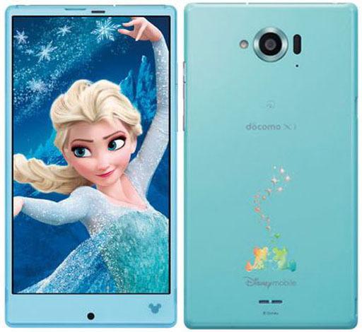 【中古】携帯電話 スマートフォン SH-02G Disney Mobile on docomo docomo ブルー(状態:本体のみ)