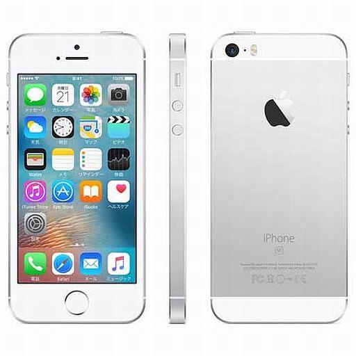 【中古】携帯電話 iPhone SE 64GB (SIMフリー/シルバー) [MLM72J/A]