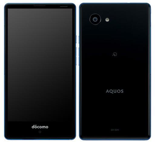 【中古】携帯電話 スマートフォン AQUOS Compact SH-02H (ブルー×ブラック) [ASH88434]