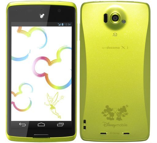 【中古】携帯電話 スマートフォン Disney Mobile on docomo N-03E (グリーン) [AAN48603](状態:本体のみ)