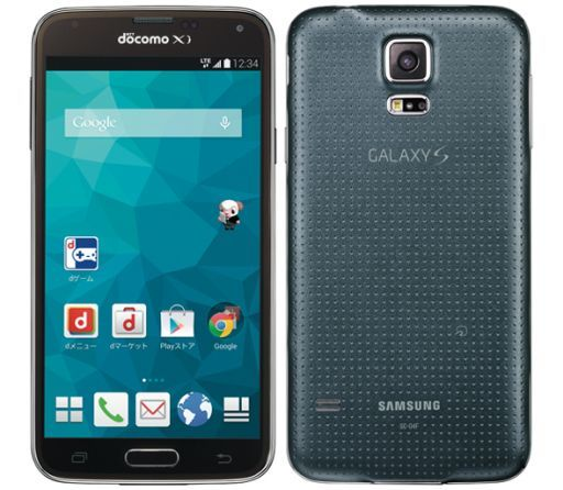 【中古】携帯電話 スマートフォン GALAXY S5 チャコールブラック [SC-04F](状態:本体のみ)