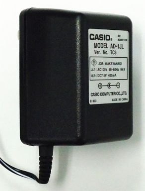 【中古】デジタル楽器 CASIO 各種電子キーボード用 ACアダプター [AD-1JL]