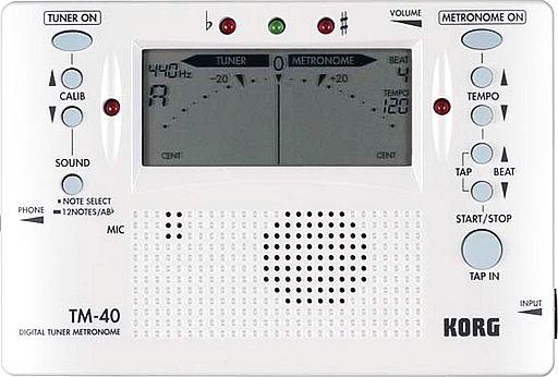 【中古】デジタル楽器 コンボ・チューナー・メトロノーム クロマチック パールホワイト[TM-40PW]