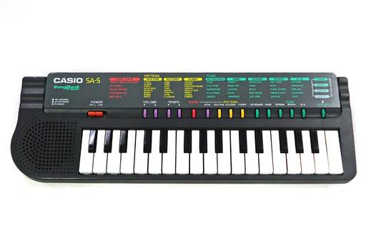 【中古】デジタル楽器 電子ミニキーボード SONG BANK KEYBOARD [SA-5](状態:箱(内箱含む)・操作シート欠品)