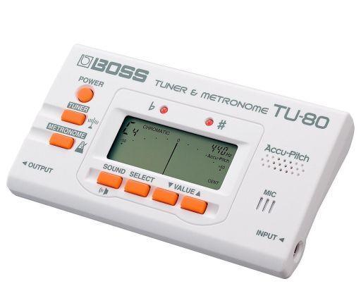 【中古】デジタル楽器 BOSS チューナー&メトロノーム (ホワイト) [TU-80WH]