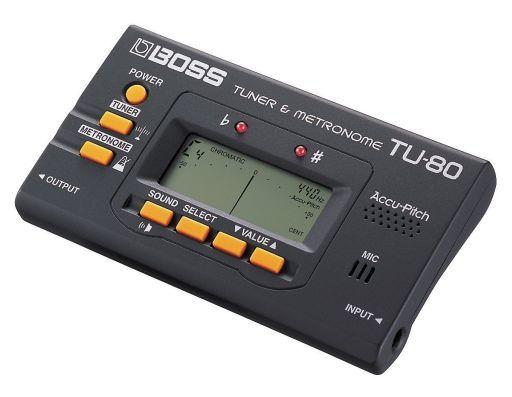 【中古】デジタル楽器 BOSS チューナー&メトロノーム (ブラック) [TU-80]