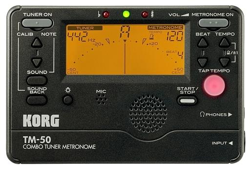 【中古】デジタル楽器 COMBO TUNER METRONOME CHROMATIC (ブラック) [TM-50-BK]